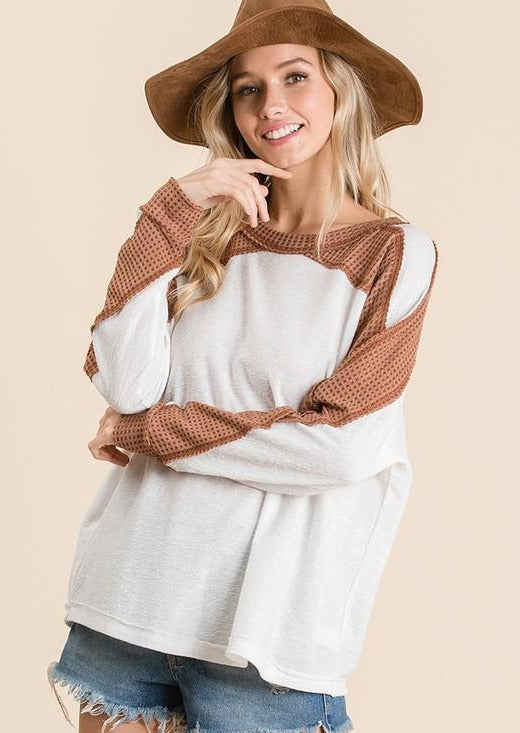 Ivy Color Block Long Sleeve - SexyModest Boutique