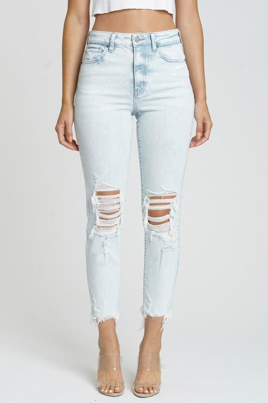 Tobi Cropped Straight Jeans