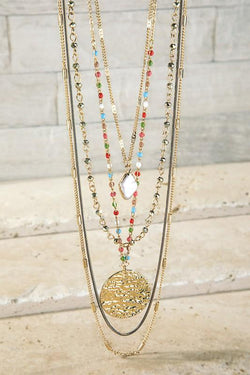 Multi Layer Charm Necklace