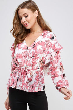 Drew Floral Blouse - SexyModest Boutique