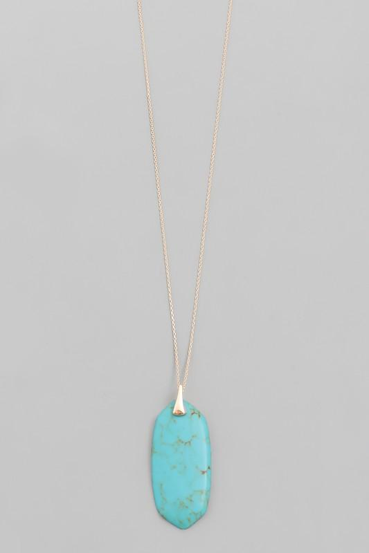 Turquoise Pendant Necklace - SexyModest Boutique