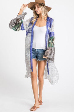 Sheer Woven Mix and Match Cardigan - SexyModest Boutique