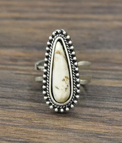 Teardrop White Turquoise Ring - SexyModest Boutique