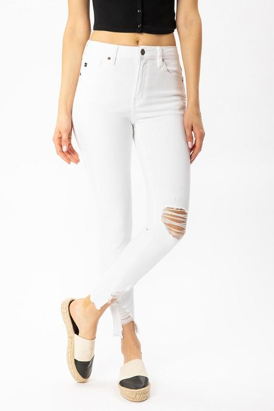 Tess High Rise Ankle Skinny - SexyModest Boutique