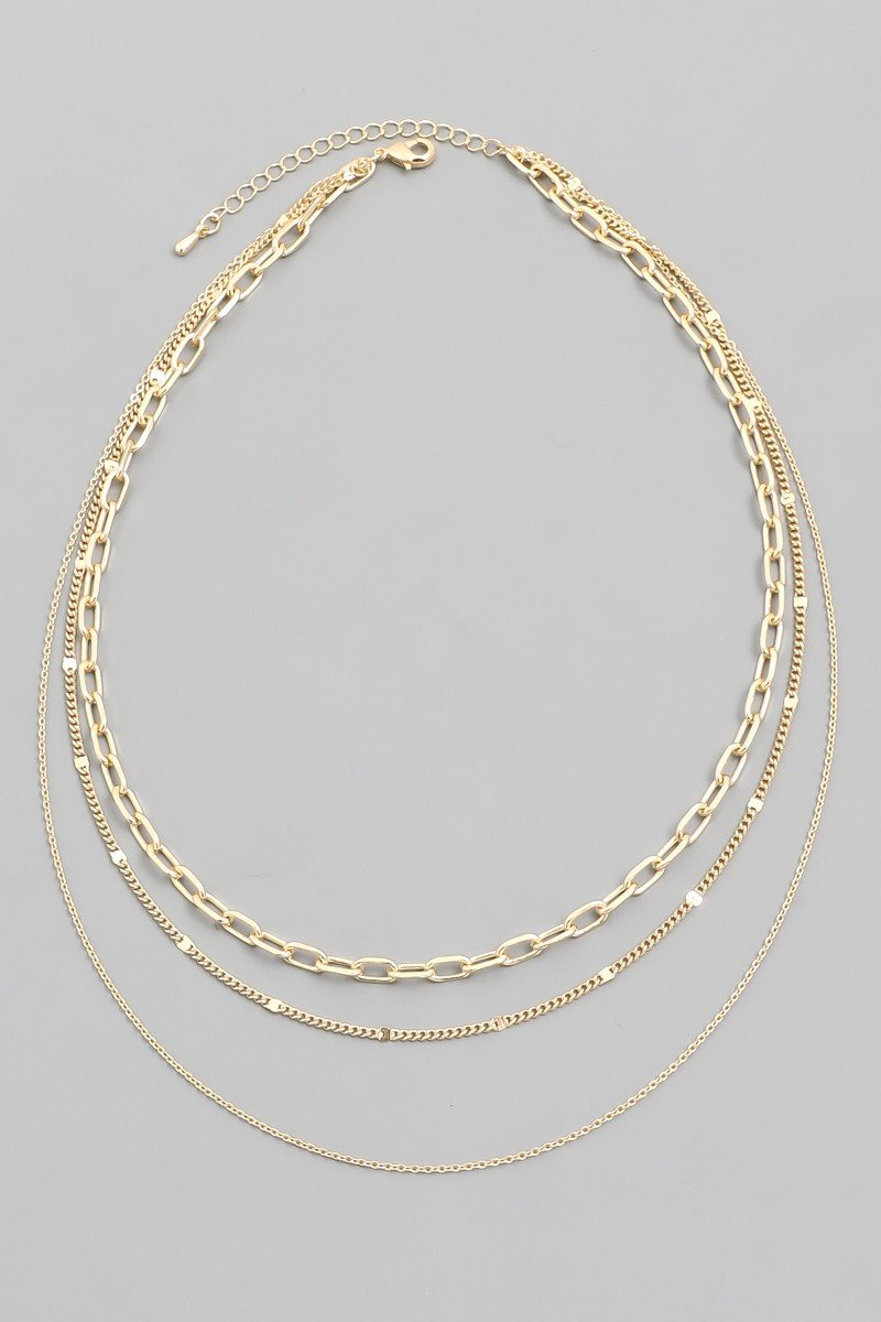 Layered Chain Necklace - SexyModest Boutique