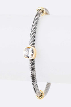 Diamond Textured Bangle - SexyModest Boutique