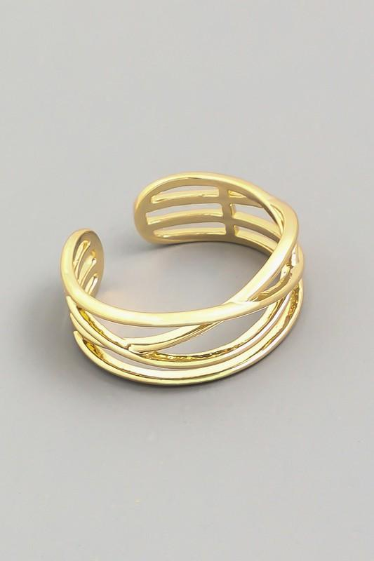 Metallic Layered Ring
