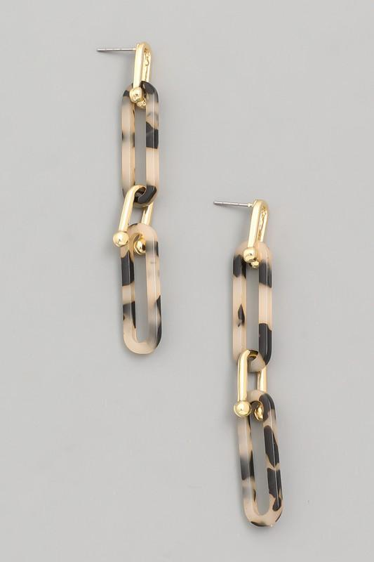 Oval Chain Link Earrings - SexyModest Boutique