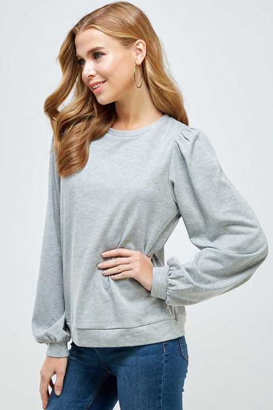 Tess Puff Sleeve Top - SexyModest Boutique