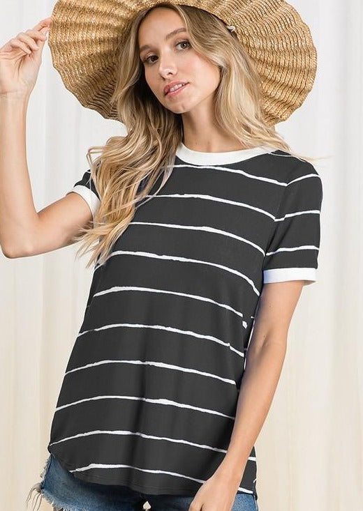 Molly Basic Stripe Top