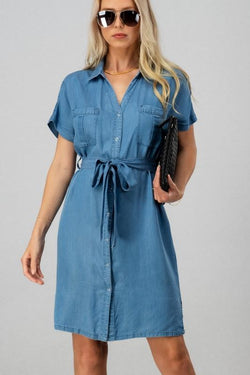 Elissa Denim Shirt Dress