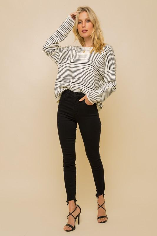 Jennifer Stripe Sweater