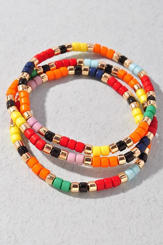 Multi Color Triple Bracelet