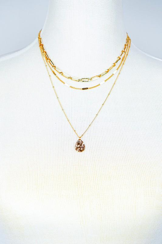 Triple Layer Chunky Chain Necklace