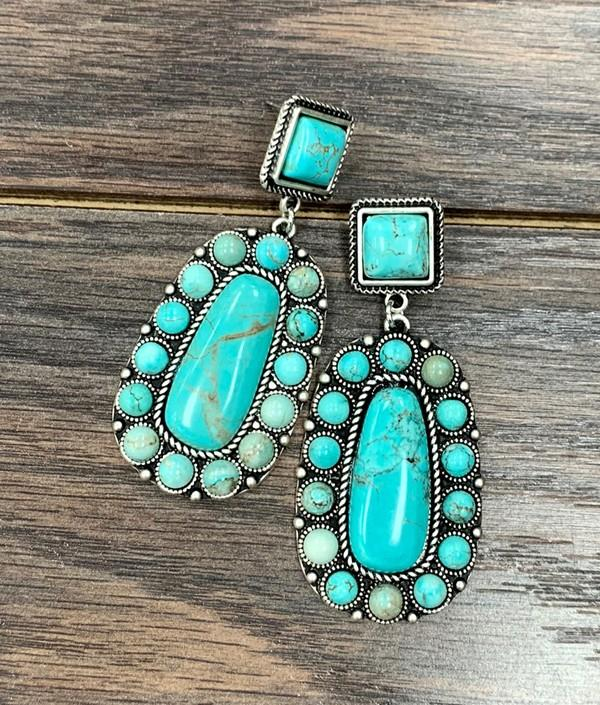 Natural Turquoise Post Earrings