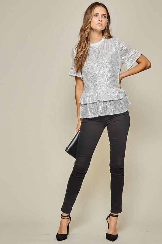 Sophie Sequined Top