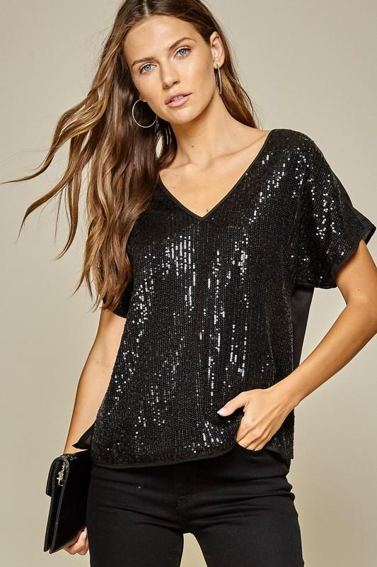 Nova Sequin Top