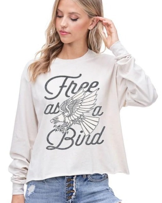 Free Bird Graphic Top