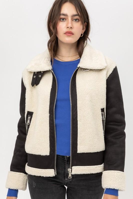 January Moto Sherpa Jacket