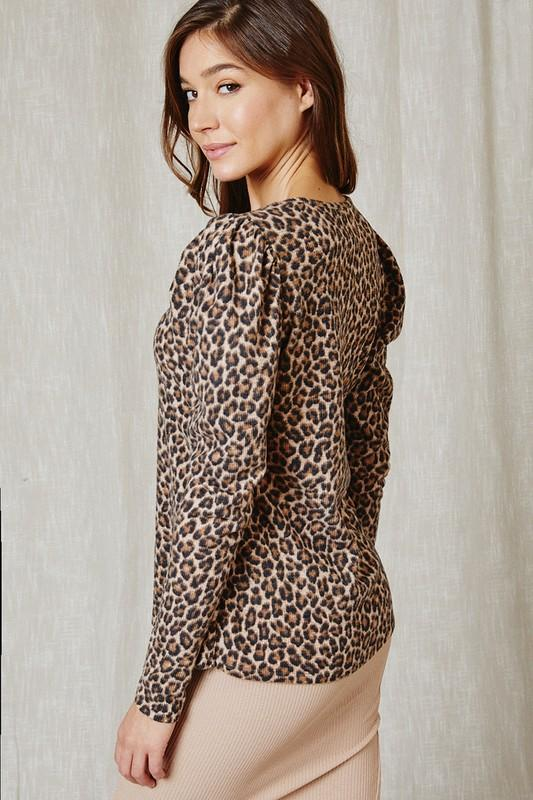 Francesca Leopard Top