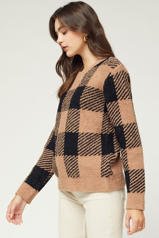 Ridley Gingham Sweater
