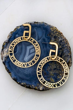 Roman Hoop Earrings