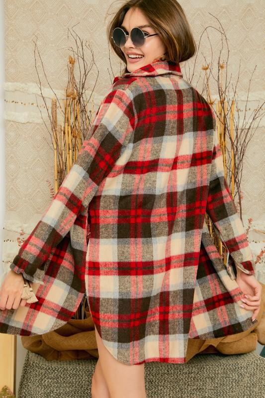 Soliel Flannel Shirt Dress