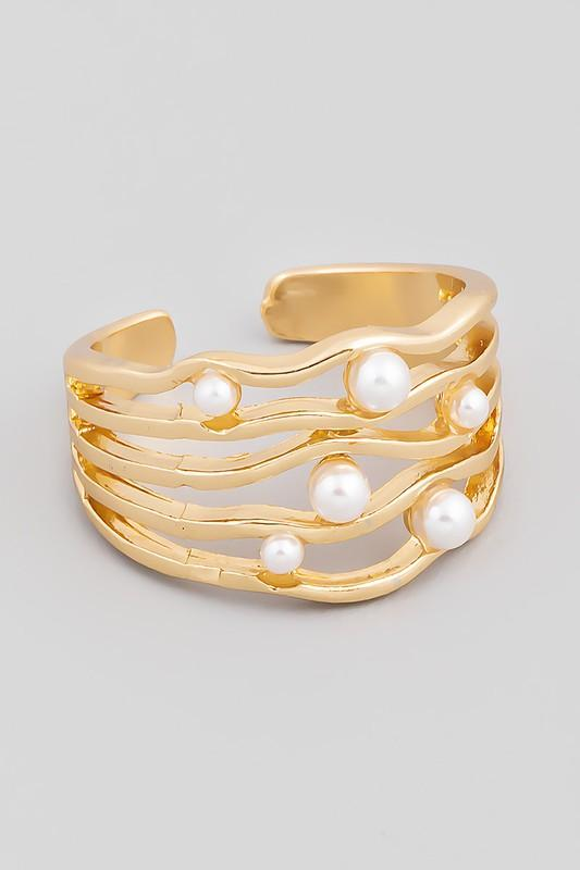 Pearl Stacked Ring