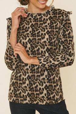 Evelyn Leopard Top - SexyModest Boutique