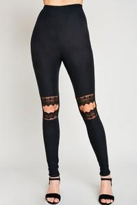 Alison Knee Slit Leggings - SexyModest Boutique
