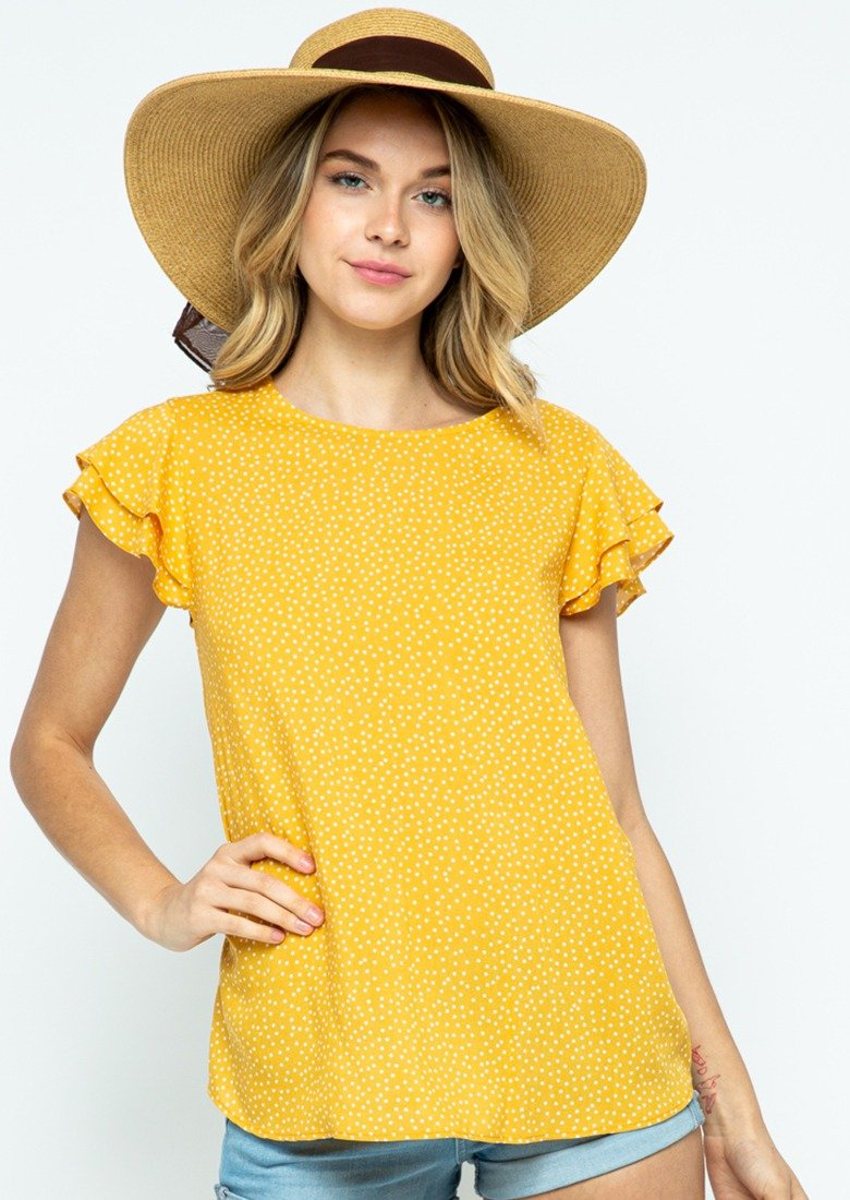 Mavis Ruffle Sleeve Top