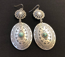 Concho Natural Turquoise Earrings