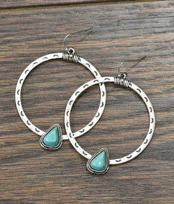 Boho Natural Turquoise Earrings
