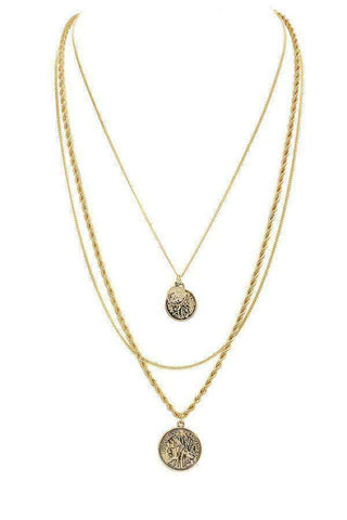 Layered Coin Necklace - SexyModest Boutique