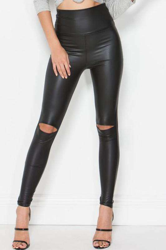Natasha Leather Leggings - SexyModest Boutique