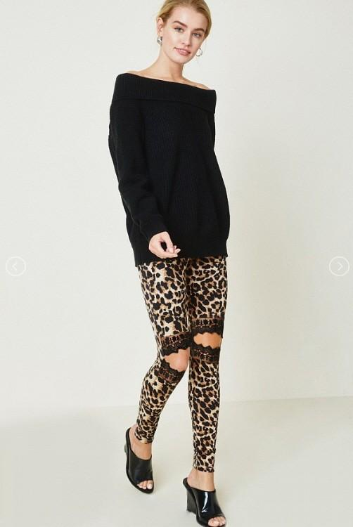 Leopard Lace Leggings - SexyModest Boutique