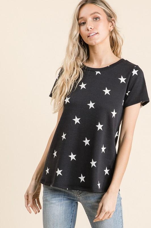 Melody Star Print Top