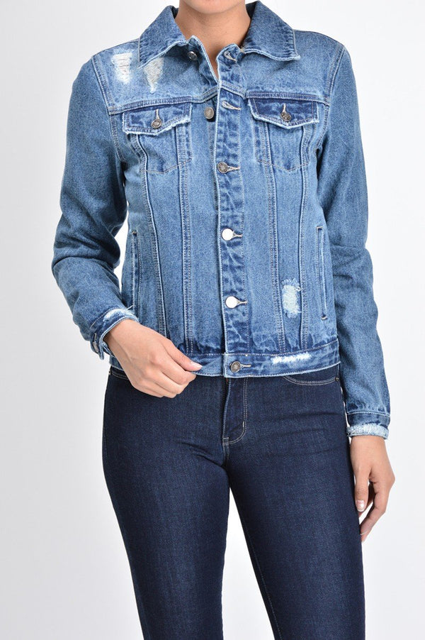 Jesse Jean Jacket - SexyModest Boutique
