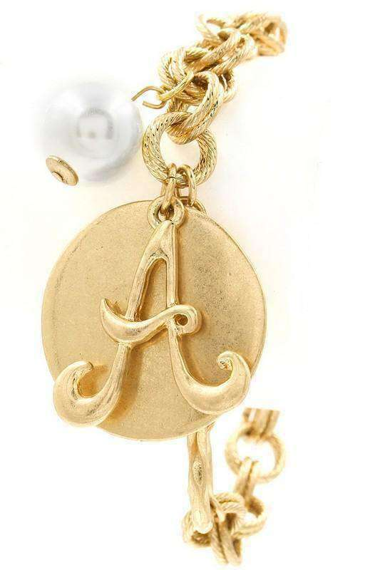 Monogram Disk Bracelet - SexyModest Boutique