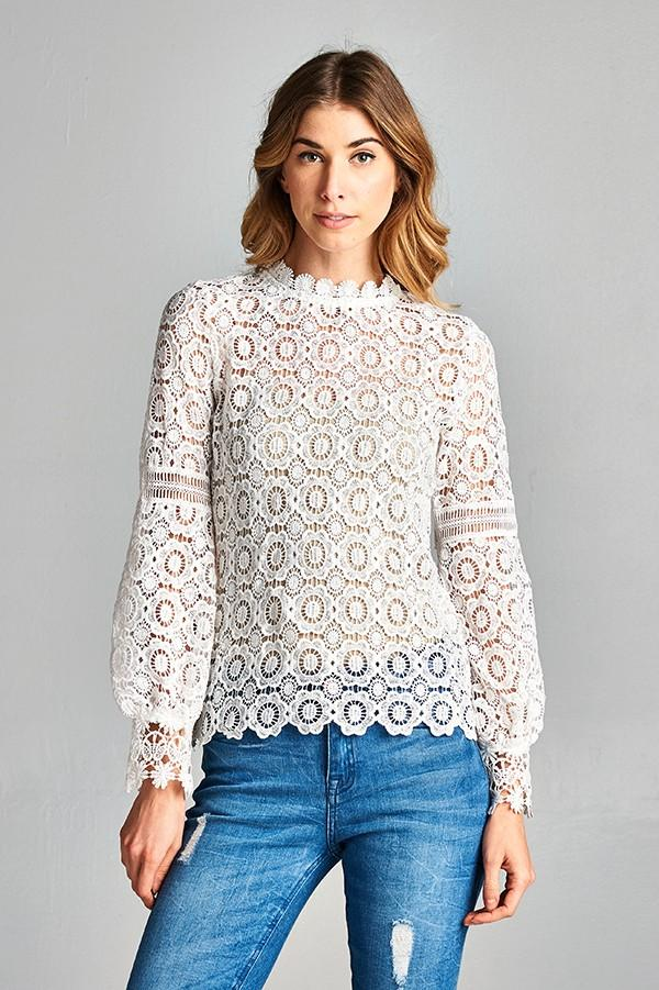 Sally Crochet Top - SexyModest Boutique