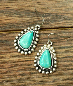 Triangle Turquoise Earrings - SexyModest Boutique