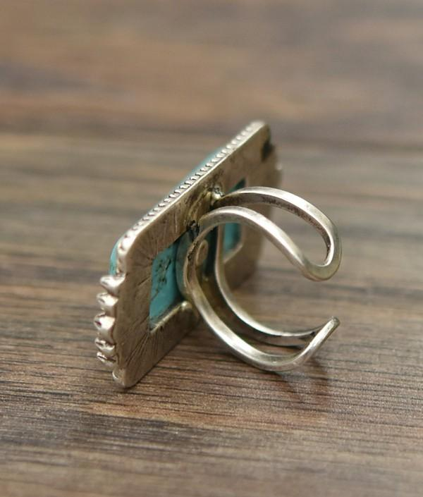 Rectangular Turquoise Ring - SexyModest Boutique