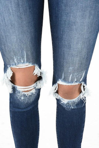 Kea Dark Wash Ripped Jean