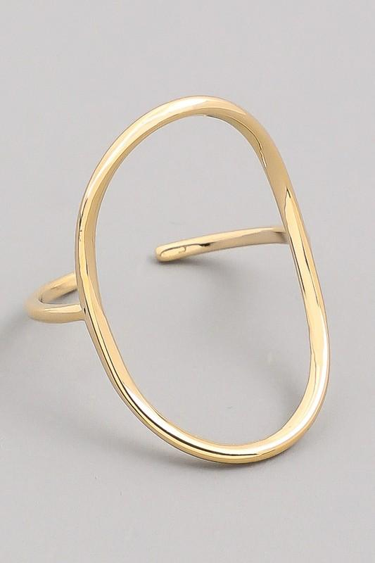 Curved Oval Ring - SexyModest Boutique