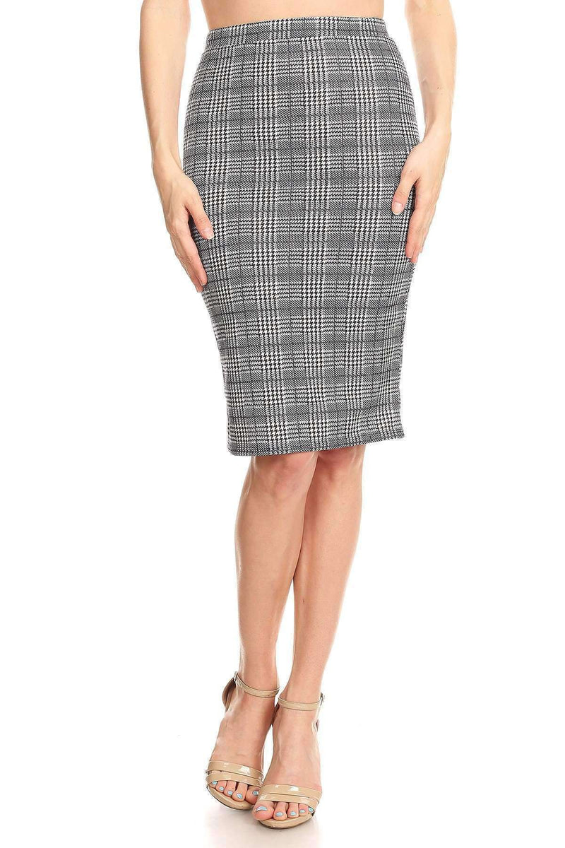 Hanna Plaid Skirt - SexyModest Boutique