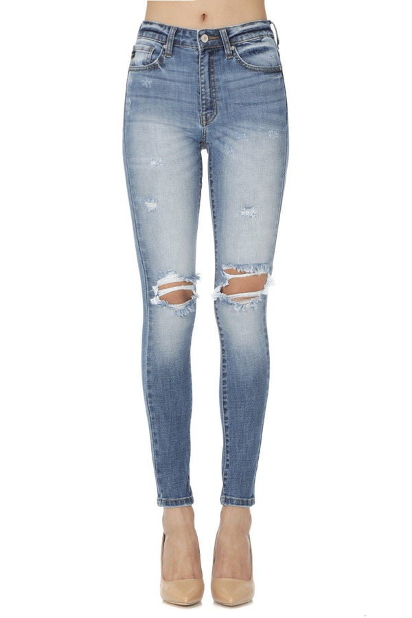 Jaylyn Distressed Skinny Jeans - SexyModest Boutique