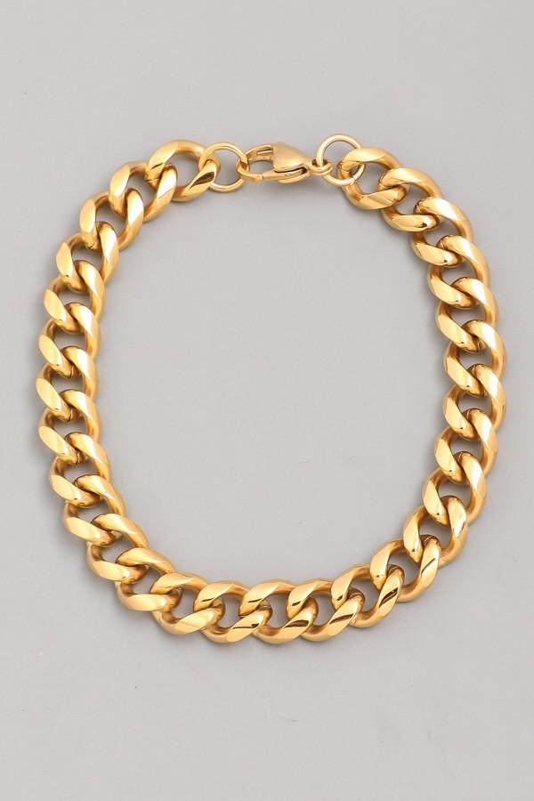Gold Chain Link Bracelet - SexyModest Boutique