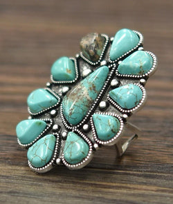 Multi Stone Turquoise Ring - SexyModest Boutique
