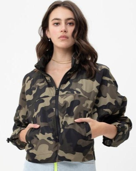 Emery Camo Windbreaker