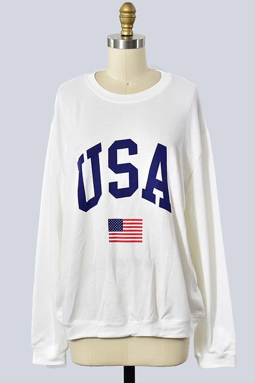 USA Sweatshirt - SexyModest Boutique